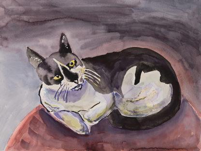 Wishbone Street Cat on a Pedistal