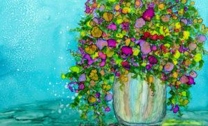 Flower Vase n Blue